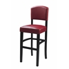 "MONACO STOOL 30 DARK RED, 17.75""W X 19.5""D X 44.8""H, Espresso"
