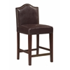 "Linon Manor Counter Stool Blackberry, 18""W X 19.5""D X 38""H, Manhattan Stain"