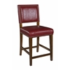 "Linon Brook Red Counter Stool, 19""W X 22""D X 40.5""H, Brown"