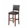 "Brook Bar Stool Black, 18.5""W X 23""D X 45""H, Sapele"