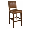 "Linon BROOK BAR STOOL30 CARAMEL, 19""W X 22""D X 45.5""H, Brown"