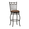 "Linon Swag Bar Stool 30, 18.11""W X 19.88""D X 45.67""H, Powder Coating"