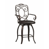"Crested Back Counter Stool 24, 22.64""W X 18.9""D X 41.64""H, Powder Coating"