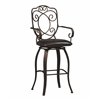"Linon Crested Back Bar Stool 30, 22.64""W X 18.9""D X 47.64""H, Powder Coating"