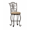 "Linon Gathered Back Counter Stool 24, 19.1""W X 21.65""D X 41.6""H, Powder Coating"