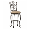 "Linon Gathered Back Bar Stool 30, 19.1""W X 21.65""D X 47.6""H, Powder Coating"