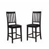 "Cayman Counter Stools - Set of Two, 16.75""W X 20.5""D X 44.75""H, Black"