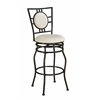 "Linon Townsend Adjustable Stool, 16.3""W X 19""D X 38.18-44.09""H, Black"