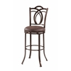 "Linon Calif Metal Bar Stool, 17.5""W X 19.3""D X 47.2""H, Coffee Brown"