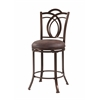 "Linon Calif Metal Counter Stool, 17.52""W X 19.25""D X 41.34""H, Coffee Brown"