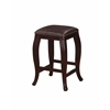 "San Francisco Square Top Counter Stool - Brown, 14.25""W X 14.25""D X 24""H, Wenge Finish"