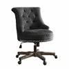 "Sinclair Office Chair Charcoal Gray - Washed Wood Base, 23""W X 27""D X 35""-39.5""H, Gray"