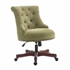 Sinclair Office Chair Green - Dark Walnut Wood Base Dark Walnut