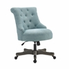 Sinclair Office Chair Light Blue - Gray Wash Wood Base Gray Wash Wood