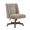 Draper Office Chair Brown - Dark Walnut Wood Base Dark Walnut