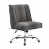 Draper Office Chair Gray Dot - Chrome Base Chrome