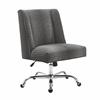 Draper Office Chair Gray Dot - Chrome Base Chrome