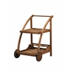 "Catalan Trolley, 24.41"" X 21.06"" X 31.5"", Teak Finish"