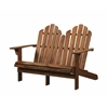 Linon Adirondack Double Bench, 52.36'' X 37.4'' X 37.99'', Teak Finish