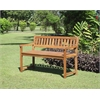 Linon Catalan Bench - Teak Finish, 45'' X 20.28'' X 30'', Teak Finish