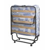 "ROMA FOLDING BED, 31.5""W X 74.8""D X 14.96""H, Blue & White"