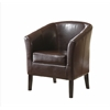 "Linon Simon Brown Club Chair, 28.25""W X 25.5""D X 33""H, Brown"