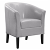 Simon Light Grey Chair Black