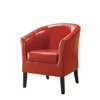 "Linon Simon Red Club Chair, 28.25""W X 25.5""D X 33""H, Red"