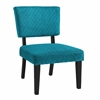 "Linon Taylor Teal Blue Accent Chair, 23.13""W X 27.5""D X 34.25""H, Black"