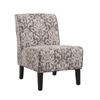 "Linon Coco Accent Chair - Gray Damask, 22.5""W X 30""D X 33""H, Black"