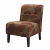 "Linon COCO ACCENT CHAIR - HARVEST, 22.5""W X 30""D X 33""H, Dark Walnut"