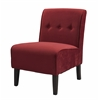 "Linon COCO ACCENT CHAIR - RED, 22.5""W X 30""D X 33""H, Dark Walnut"