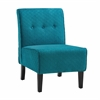 "Linon Coco Teal Blue Accent Chair, 22.5""W X 30""D X 33""H, Black"