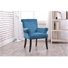 "Linon Calla Chair - Dark Blue, 27.95""W X 28.3""D X 35.4""H, Dark Brown"