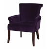 "Linon Calla Chair - Dark Purple, 28""W X 28.5""D X 35""H, Dark Espresso"