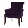 """Linon Calla Chair - Dark Purple, 28""""W X 28.5""""D X 35""""H, Dark Espresso"""