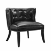 "Saphire Black Tufted Chair, 25.98""W X 26.4""D X 28.7""H, Black"