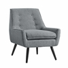 "Linon Trelis Chair - Gray Flannel, 27.5""W X 30.75""D X 32.25""H, Black"