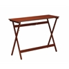 "Linon Walnut Folding Buffet Tray Table, 42.13""W X 15.2""D X 29.6""H, Walnut"