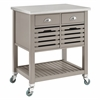 "Robbin Gray Wood Kitchen Cart, 30""W X 22.05""D X 36.02""H, Gray"