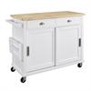Sherman Kitchen Cart White