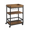"Austin Kitchen Cart, 30.5""W X 18.13""D X 36.25""H, Black"