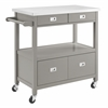 Sydney Kitchen Cart Gray