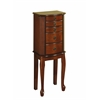 "Linon Ruby Cherry Jewelry Armoire, 13.5""W X 8.75""D X 35""H, Cherry"