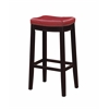 "Linon Claridge Red Bar Stool, 18.75""W X 13""D X 32""H, Dark Espresso"