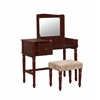 "Wyndham Vanity Set, 36""W X 18""D X 47""H, Walnut"