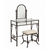 "Clarisse Metal Vanity Set, 31.8""W X 18.3""D X 52.4""H, Dark Metal"