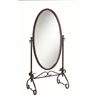 "Linon Clarisse Metal Mirror, 26""W X 18.5""D X 63""H, Antique Brown"