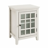 "Linon Largo Antique White Single Door Cabinet, 20""W X 15.75""D X 26""H, Antique White"