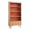 Perry Bookcase with Drawer Natural, Orange
